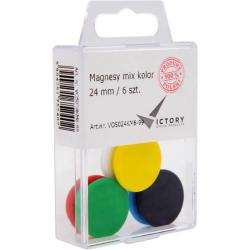 MAGNESY DO TABLIC VICTORY 24 MM MIX KOLOR (6)