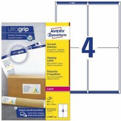 Białe etykiety wysyłkowe Avery Zweckform, 100 ark./op., 99,1 x 139 mm
