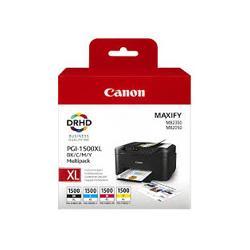 Zestaw czterech tuszy Canon PGI1500XL do MB-2050/2350 | CMYK