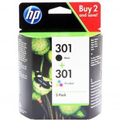 Zestaw dwóch tuszy HP 301 do Deskjet 1000/2000 | 2 x3 ml | CMY/K