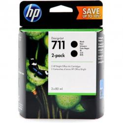 Tusz HP 2-Pack 711 | 2 x 80ml | black