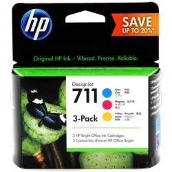 Tusz HP 3-Pack 711 | 3 x 29ml | Cmyk/Magenta/Yellow