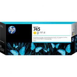 Tusz HP 745 do DesignJet Z5600/Z2600 | 300ml | Yellow