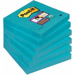 Karteczki Post-it Super Sticky 76x76mm błękitne (90)