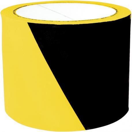 Taśma ostrzegawcza 75mm/100m żółto-czarna