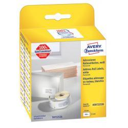 Etykiety na rolce Avery Zweckform 54x25mm białe (5