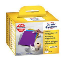 Etykiety na rolce Avery Zweckform 57x32mm białe (1