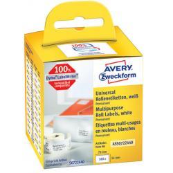 Etykiety na rolce Avery Zweckform 70x54mm białe (1