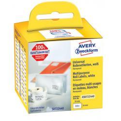 Etykiety na rolce Avery Zweckform 89x28mm białe (2