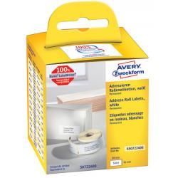Etykiety na rolce Avery Zweckform 89x36mm białe (2