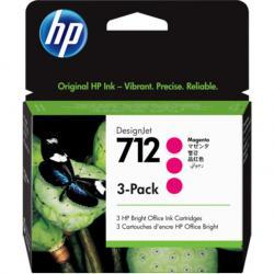 Zestaw trzech tuszy HP 712 | 3x 29ml | magenta