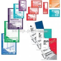 Faktura wzór pełny dla prowadzących sprzedaż w cenach netto, A5,wielokopia